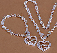 Fahion ilver Plated (Include Bracelet & Necklace) Jewelry et