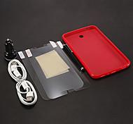 TPU weicher Fall-+ Stylus Stift + USB-Kabel 2 PC + HD Screen Protector 2 Stück für Samsung Galaxy P3200 Tab3