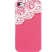 Luxury Bling Cute Pearl Lace Ice Cream Hard Back Case Cover for iPhone 4/4S