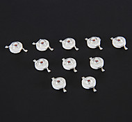 1W 70LM Red Light LED Chip (2.2-2.4V, 10 pcs)