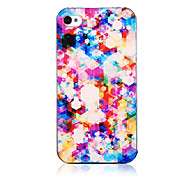 Original Colorful Diamond Halo Pattern Transparent Frame Back Case for iPhone 4/4S