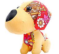 Adorable Beige Plush Large Head Dog Doll Gift