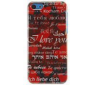 """""""I Love You"""" Pattern Hard Case for iPhone 5C"""
