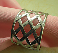 Elegant Napkin Ring Set Of 6, Metal Dia 4.5cm