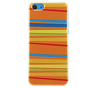 Colorful Stripes Pattern Golden Yellow Hard Case for iPhone 5C