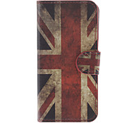 the Union Jack Pattern PU Full Body Case with Stand and Card Slot for iPhone 5C