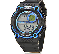 Heren Multi-Functionele ronde Dial Rubber Band LCD Digital Sport Watch (assorti kleur)