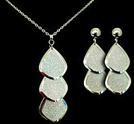 Fashion Silver Alloy (Earrings&Necklaces) Gemstone Jewelry Sets