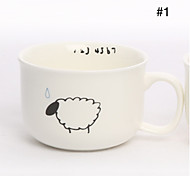 Ceramic Coffee Mug Stick Figure Milk Cup(Assorted Color)