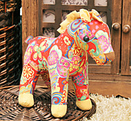 Mini Multicolored Suede War Horse Doll Toy