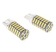 T20 7443 8W 120x3020SMD 660lm 5500-6500K refrescan la lámpara LED de luz blanca para coche (12V)