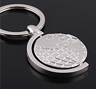 Porte-clés personnalisé gravé Tellurion cadeau en forme