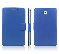 For Samsung Galaxy Case with Stand / Flip Case Full Body Case Solid Color PU Leather Samsung Tab 3 7.0