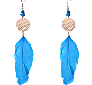 Bohemian Fashion Long Feather Earrings