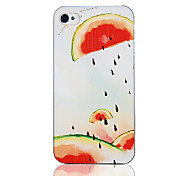 Original-Wassermelone Spit Seed Muster Transparent Frame zurück Fall für iPhone 4/4S
