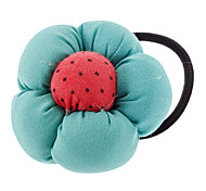 Flower Fabric Chiffon Hair Ties(Random Color)
