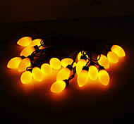 5M 15W 20-LED Yellow Light Cherry Tomato Shaped LED Strip Light (220V)