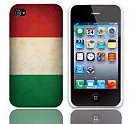 Vintage Le drapeau hongrois Motif Hard Case avec protection d'écran 3-Pack pour iPhone 4/4S