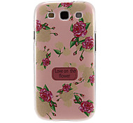 Pink Peony Pattern Plastic Protective Hard Back Case Cover for Samsung Galaxy S3 I9300