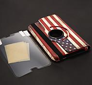 USA-Flaggen-Muster PU-Leder-Beutel + Stylus Pen + HD Screen Protector 3 Stück für Samsung Galaxy P3200 Tab3