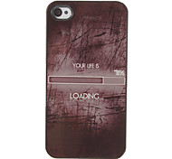 Your Life is 71% Loading Pattern PC Hard Case with 3 Packed HD Screen Protectors for iPhone 4/4S