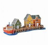 3D Puzzle  Mini Fisherman's Wharf  Toy  for Kids