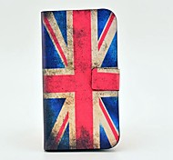 Retro UK Flag Pattern PU Leather Case with Magnetic Snap and Card Slot for Samsung Galaxy S4 I9500