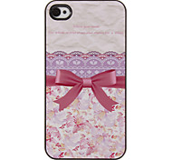 Princess's Dreamy Cute Bowknot Pattern PC Hard Case with 3 Packed HD Screen Protectors for iPhone 4/4S