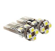 T10 5W 350LM 6000K 8x3528SMD refrescan la lámpara LED de luz blanca para el coche (9-14V, 2 pcs)