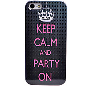 """KEEP CALM AND PARTY ON"" Pattern ABS Back Case for iPhone 5/5S"