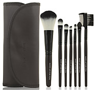 Make-up For You® 7pcs Makeup Brushes set Portable/Limits bacteria Black Blush brush Shadow/Eyeliner/Lip/Brow/Lashes Brush Makeup Kit Cosmetic Brushes