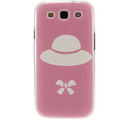 Pink Ground Hat Pattern Plastic Protective Hard Back Case Cover for Samsung Galaxy S3 I9300