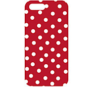 Red Background Round Dots Design Back Case for iPhone 5