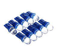 T10 0,15 W 1-LED 10LM Blue Light Lâmpada LED para carro (12V, 10 pcs)