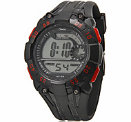 Men's Multi-Functional Round Dial Rubber Band LCD Digital Sport Watch (Assorted Color)
