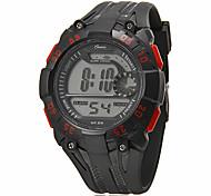 Multi-Funcional Rodada Masculina Dial Rubber Band LCD Digital Sport Watch (cores sortidas)