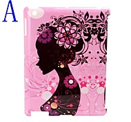 Beauty Illustration Design Hard Back Case/Cover for iPad2/3/4