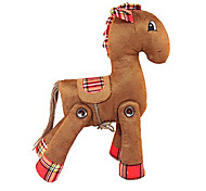 Original Flexible Brown Suede Fabric Horse Doll Gift(27*38cm)