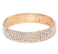 Victoria Czech Crystal Golden Plated Bangle Bracelet