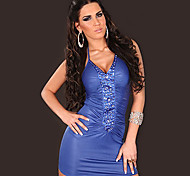Hot Girl PU Leather Nightclub Sexy Party Uniform(For Size M)