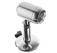 1W 110LM 2800-3300K luz branca quente de alta qualidade LED Cabinet Light-Prata (AC 90-240V)