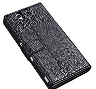 Book style Wallet Stand Design PU Leather Case for Sony Ericsson L36h Xperia Z
