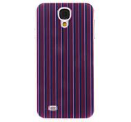 Lila, Rot, Streifen-Muster Kunststoff-Schutz stark Fall-Abdeckung für Samsung Galaxy I9500 S4