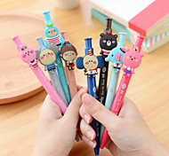 Lovely Cartoon Design Rubber Head Ball Point Pen(Random Color,1 PCS)