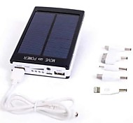 External Battery 30000mAh Solar Power Bank / LED  Flashlight for iphone 6/6 plus/5/5S/Samsung S4/S5/Note2