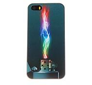 Футляр Красочный Зажигалка Pattern ПК для iPhone 5/5S