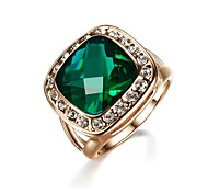 Fahion Lady' Green imulated Diamond Party Ring