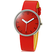 Women's Simple Design PU Band Quartz Analog Wrist Watch (Assorted Colors) Cool Watches Unique Watches