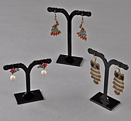 3 pcs Black Plastic Display For Earrings