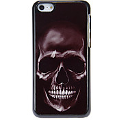 Smiling Dreadful Skull Pattern Aluminous Hard Case for iPhone 5C